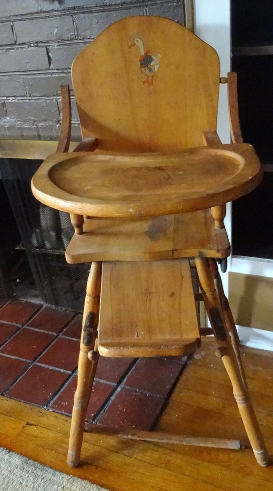 Light wood tone vintage wooden high chair baby feeding high chair made in  usa - 100 Best 1950s Vintage High Chair Images On Pinterest 1950s