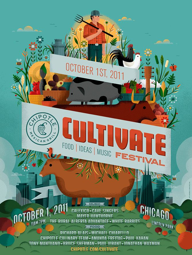 Chipotle Cultivate Festival poster by InvisibleCreature