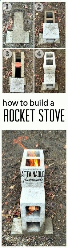 A rocket stove burns so efficiently that it ensures almost complete combustion prior to the flames reaching the cooking surface, so there is virtually no smoke. And theyre easy to make! Click through to find out how as part of your emergency preparedness plan in case of a power outage.