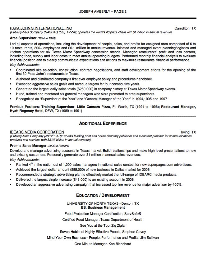 Sample Resume Senior Lever Operating Manager - http - basketball coach resume