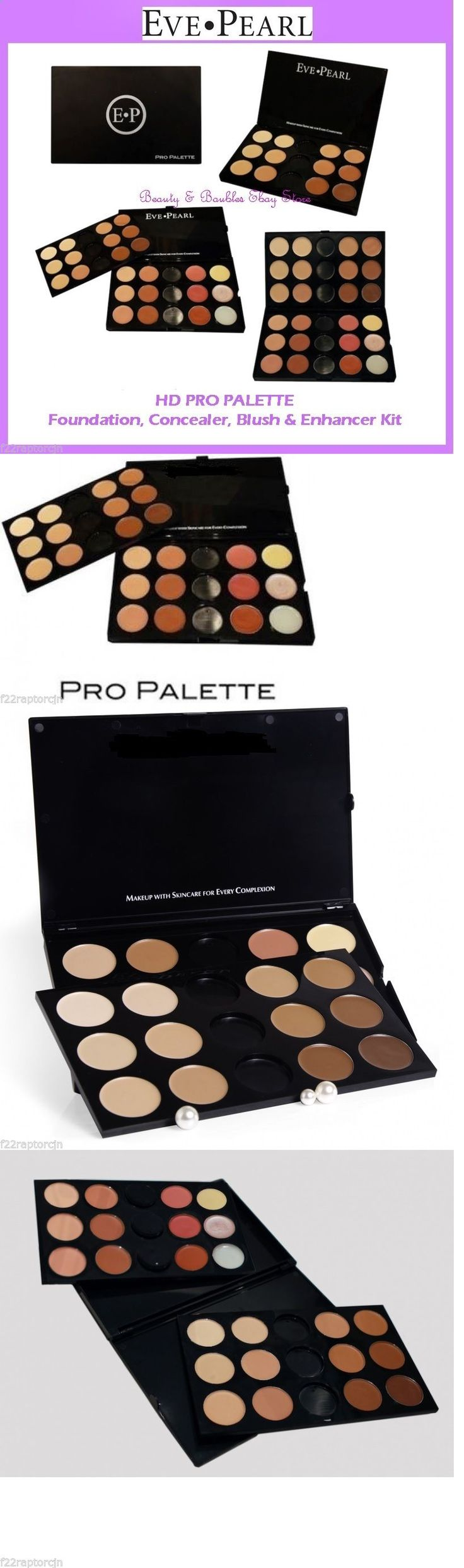 Makeup Sets and Kits: New Eve Pearl Hd Pro Palette-Foundation Salmon Concealer Blush Kit Free Shipping -> BUY IT NOW ONLY: $154.95 on eBay!