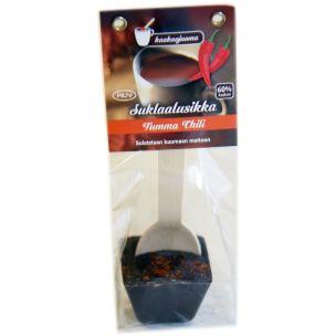 Suklaalusikka Tumma Chili 45g  vain tämä ja saa laittaa useamman