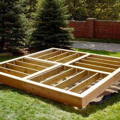Platform Deck-with material list & step by step instructions!