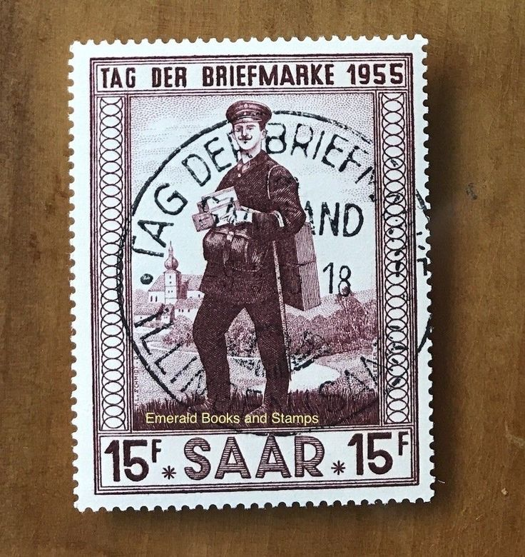 EBS Germany 1955 Saar Saarland Stamp Day Tag der Briefmarke Michel 361 FU | eBay