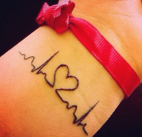 small heartbeat tattoo #ink #EKG #girly #tattoos #YouQueen