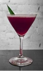 When all else fails, you can always blame your lustful ways on Rio. The Blame it on Rio cocktails is a purple colored drink made from Cedilla acai liqueur, vodka and pineapple juice, and served in a chilled cocktail glass.
