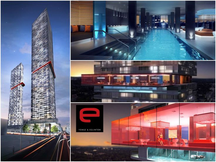 Soon to be located at 8 Eglinton Ave, 'E Condos' will host two black, grey and white glass soaring towers standing at 35 and 64 storeys high | #Toronto #TorontoRealEstate #TorontoCondos  #DowntownCondos #TheArmstrongTeam
