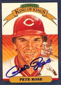 Pete Rose Autograph on a 1985 Donruss King of Kings (#653)