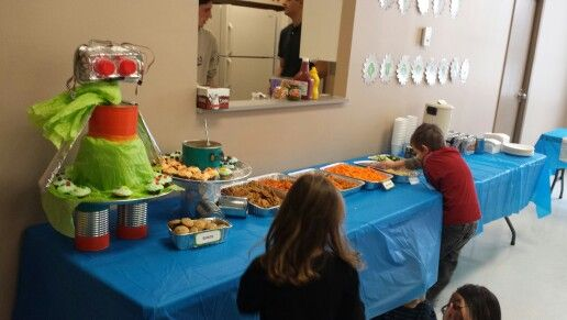 Robot Table with Treats