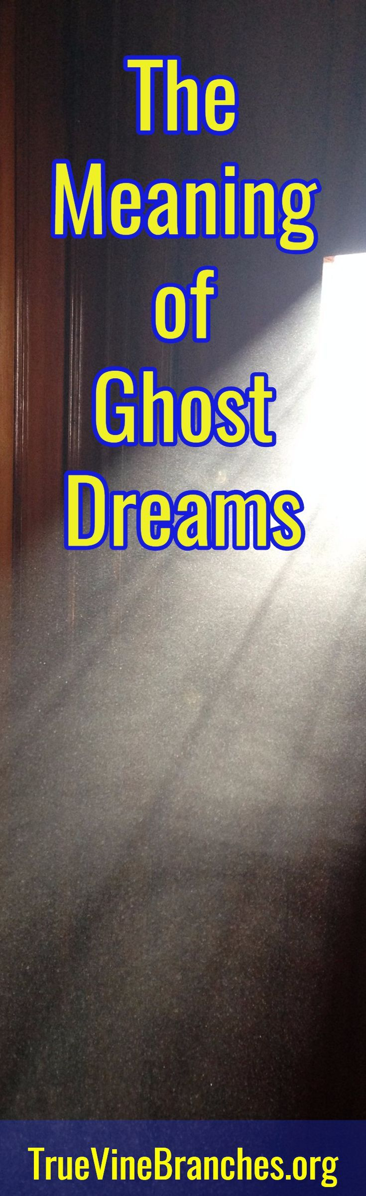 Learn the meaning of ghost dreams. Biblical dream interpretation, hearing God's voice, inspiration, encouragement.