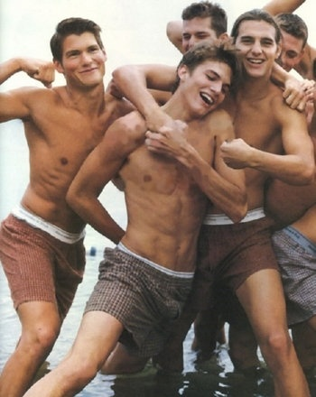 A young Ashton Kutcher and other beautiful men!!! Ummmm, sigh! This is giving me naughty thoughts!