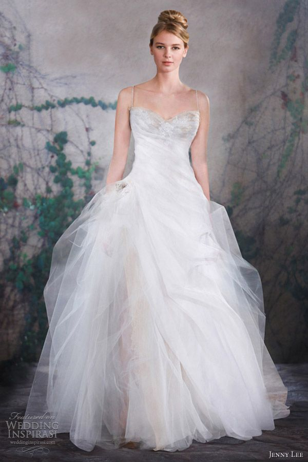 jenny lee bridal fall 2013 strapless ball gown wedding dress 1312