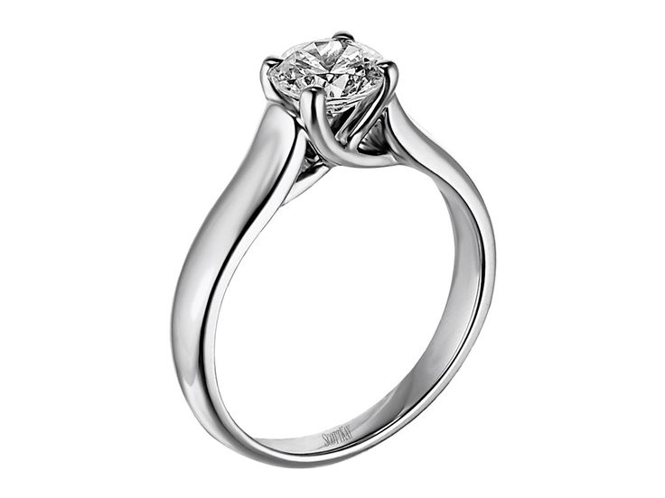 Collection: RadianceStyle #: M1051Description: Ladies 14k White Gold Solitaire MountingAvailable Metal: 14kt, 18kt, Platinum, PalladiumRing Setting: Solitaire Available at CMI Jewelry Showroom in Raleigh NC