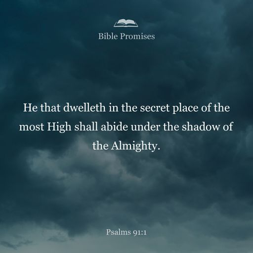 He who dwells in the shelter of the Most High will rest in the shadow of the Almighty.