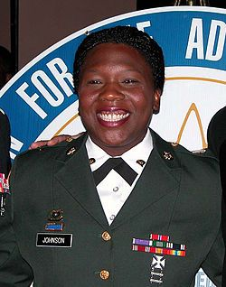 Shoshana Nyree Johnson (born January 18, 1973) is a Panamanian-born former United States soldier, and was the first black or Hispanic female prisoner of war in the military history of the United States. Johnson was a Specialist of the U.S. Army 507th Maintenance Company, 5/52 ADA BN, 11th ADA Brigade. During a gun fight that led to her capture she suffered bullet wounds to both of her ankles. She was freed in a rescue mission conducted by United States Marine Corps units on April 13, 2003.