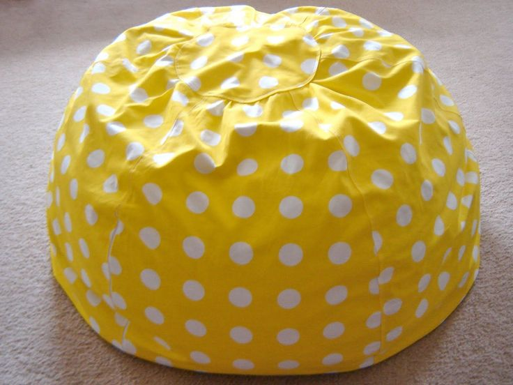 Easy Bean Bag Chair Pattern   ... on it i used the adult size free pattern from michael miller s blog #BeanBagChair