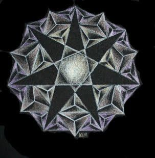 Star mandala, stermandala, kristal, crystal by Kim Vermeer