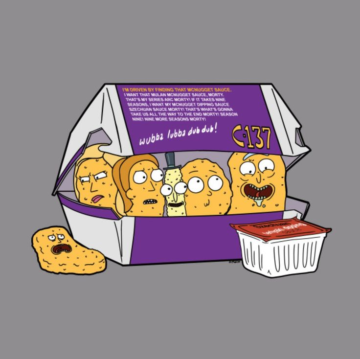 Rick and Morty Nuggets by an unknown artist