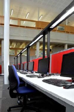 Goldman Building, Sunderland University - High Technology Lighting Project - School Lighting