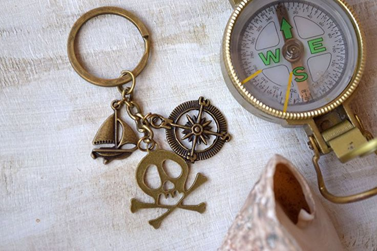 Pirate keyring pirates Keychain Boyfriend gift fathers day gift teen boy accessory Fisherman Keyrings Fishing Key Chain Dad Gift sailor gift diving lovers accessory diver gift Sea Ocean Theme Party