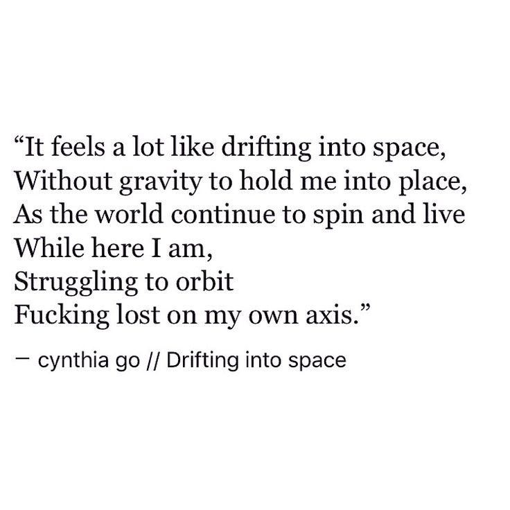 Image result for drifting into space cynthia go
