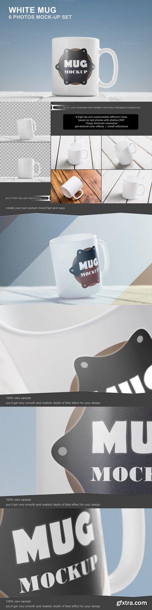 CM - White Mug Mockup Set - 6 photos 586065