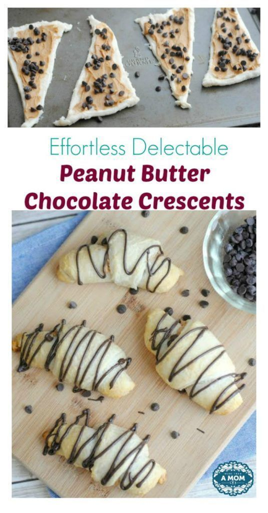 Effortless Delectable Peanut Butter Chocolate Crescents - More Than A Mom