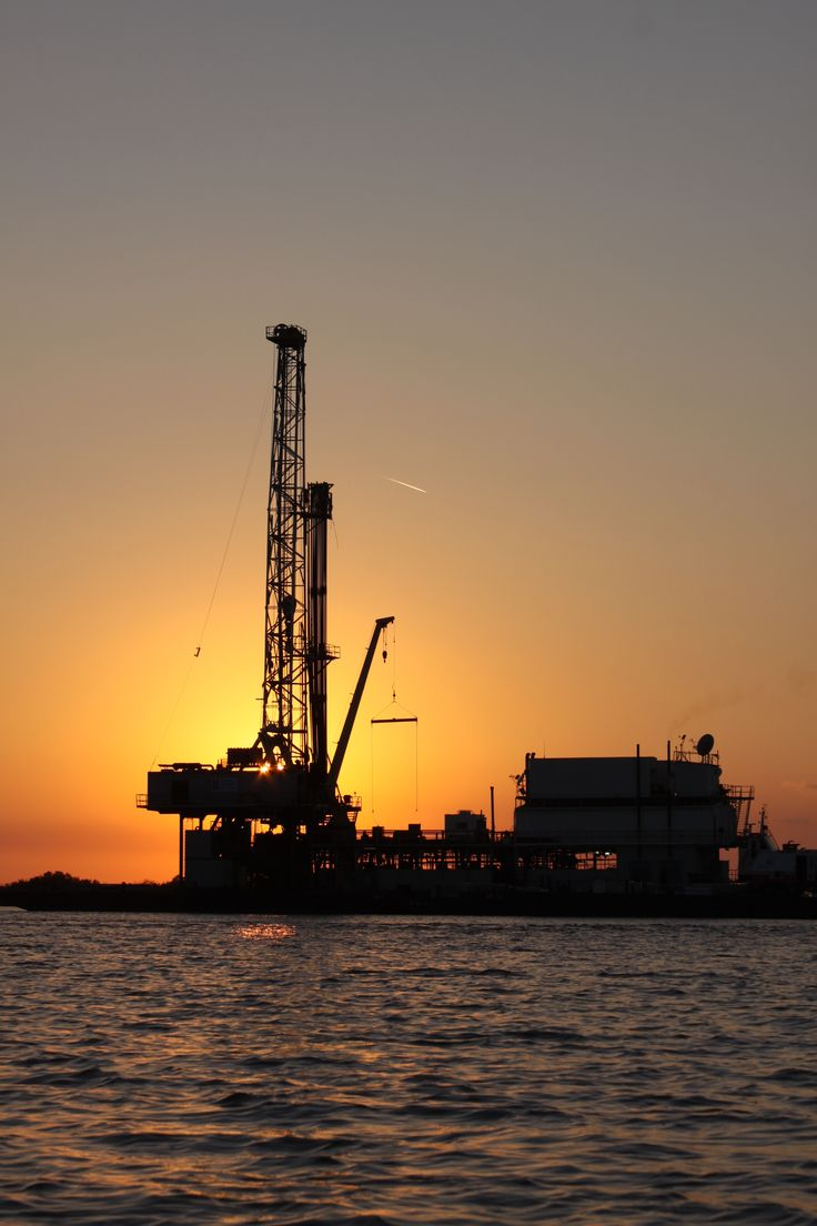 Rig in the Sunset