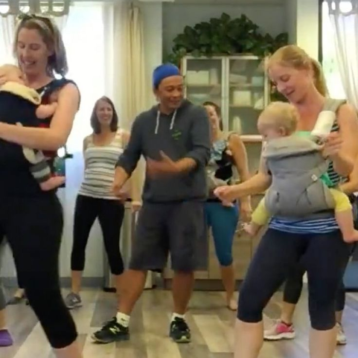 This Babywearing Dance Class May Just Be the Most Fun Mama Workout You've Ever Seen.
