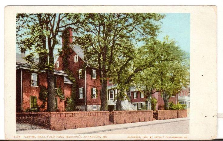 Undated Unused Postcard Carvel Hall Old Paca Mansion Annapolis Maryland MD