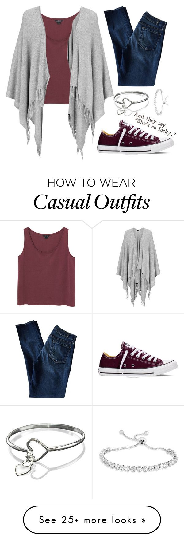 """""""casual"""" by hc-sorme on Polyvore featuring Converse, Monki, Joseph, 7 For All Mankind, women's clothing, women's fashion, women, female, woman and misses"""