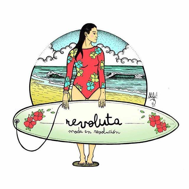 Ilustración lista para  @revolutaindumentaria <3 con mucho cariño e inspirada con el proyecto de vida en este paraíso panameño. #ilustración #panamasurf  #caribeando #caribbean #pinturadigital #bocasdeltoro