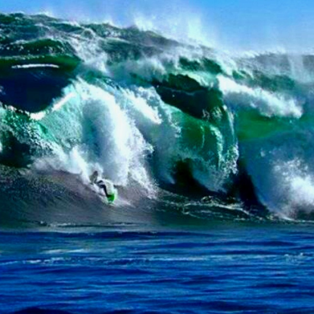 Shipsterns Bluff, Tasmania Australia, yes it's a real wave for those non-surfers and yes they do ride it