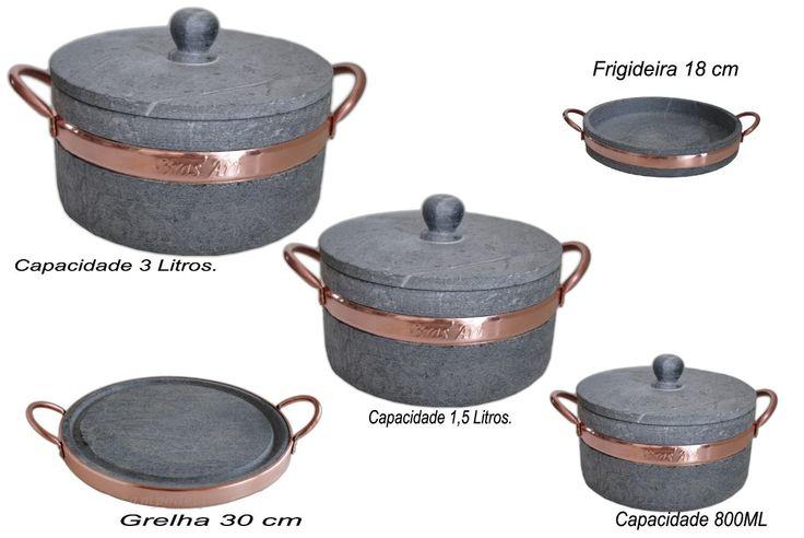 Kit De Panelas De Pedra Sabão Imperdível Aproveite - R$ 219,00 no MercadoLivre