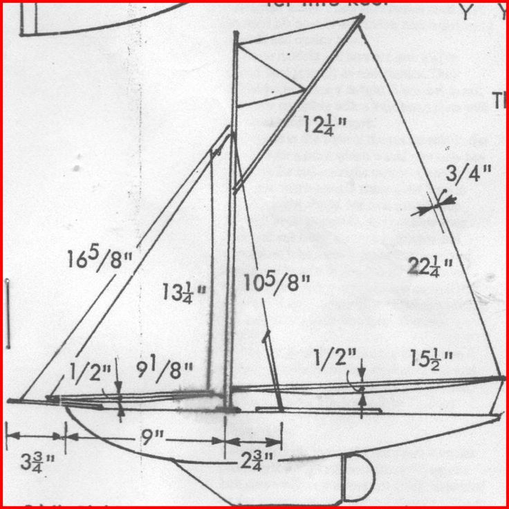Sail Plan for 'Jenny' a 'Model Boats' free plan | ship ...