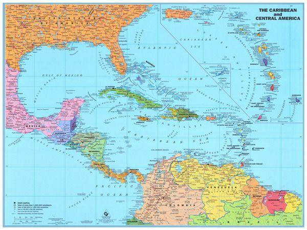 Caribbean Tracking Hurricane Map