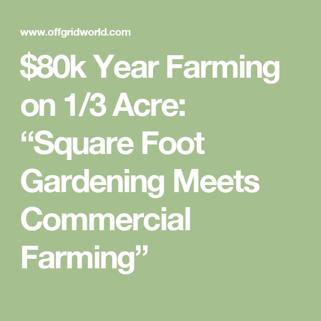 "$80k Year Farming on 1/3 Acre: ""Square Foot Gardening Meets Commercial Farming"""