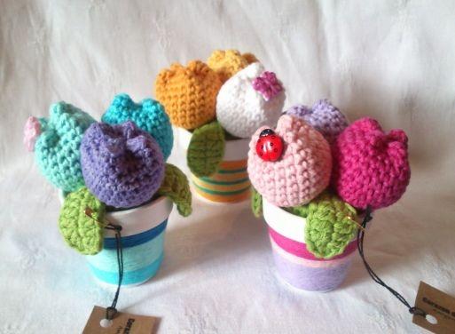 Google Crochet Pattern Central : 17 mejores imagenes sobre Macetas con flores crochet ...