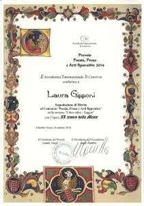 """Premio letterario internazionale """"Il Convivio"""" - segnalazione di merito"""