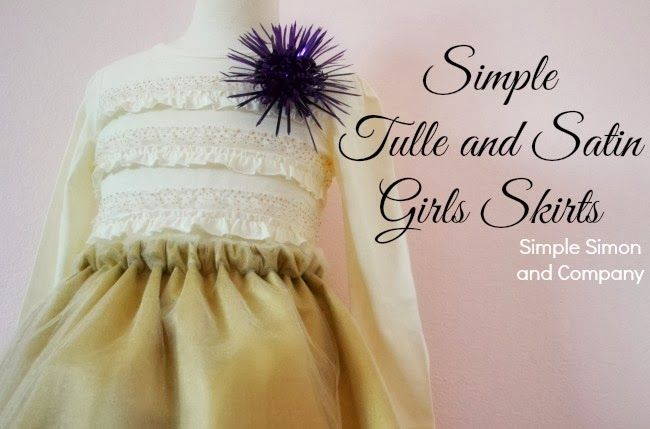 A Satin and Tulle Skirt Tutorial: Simple and Easy! (As well as links to other tulle sewing projects!)
