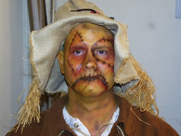 Make up ideas for Wayne 2013 scary scarecrow