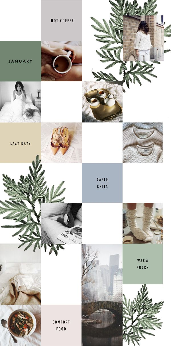 silver linings. January Moodboard.