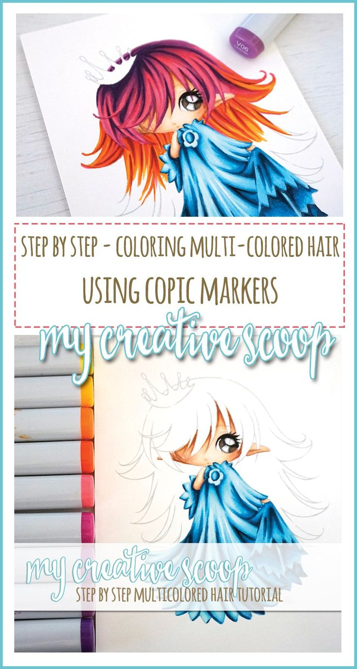 Art color hair - Step By Step How To Color Multi Colored Hair Using Copics