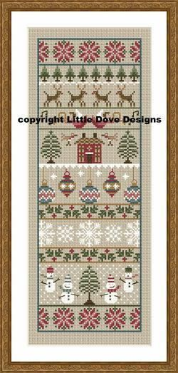 Instant Download Merry Christmas Cross Stitch Sampler Pdf Chart