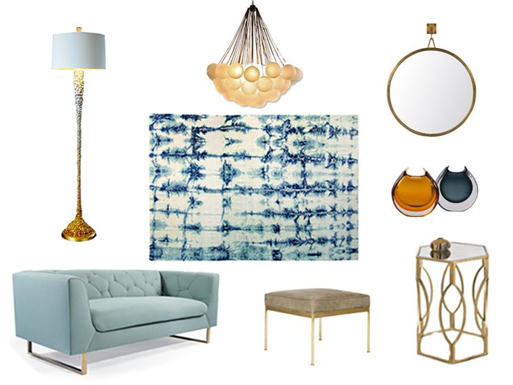 """Katie Sowrey of Pink Green Interiors reflects """"Cloudy with a Chance of Gold"""""""