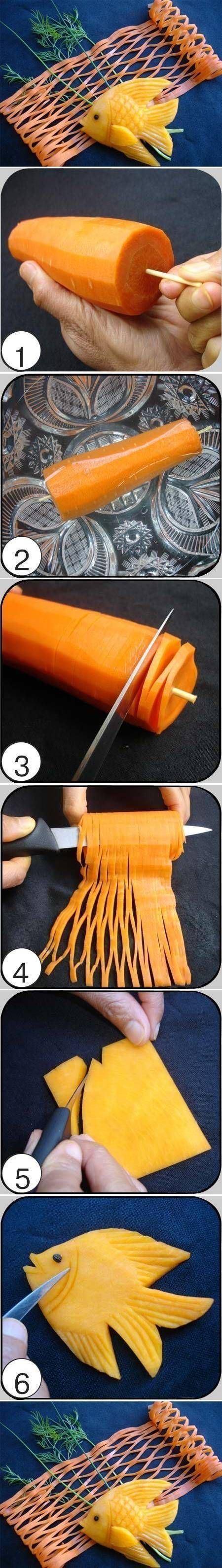 DIY Carrot Fish and Net DIY Projects
