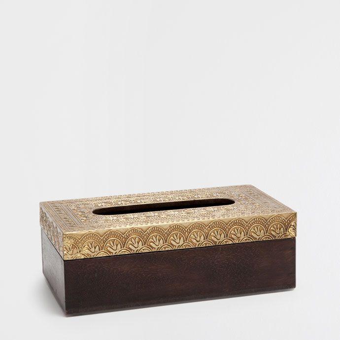 METAL AND WOOD TISSUE BOX - Accessories - Bathroom | Zara Home Sverige / Sweden