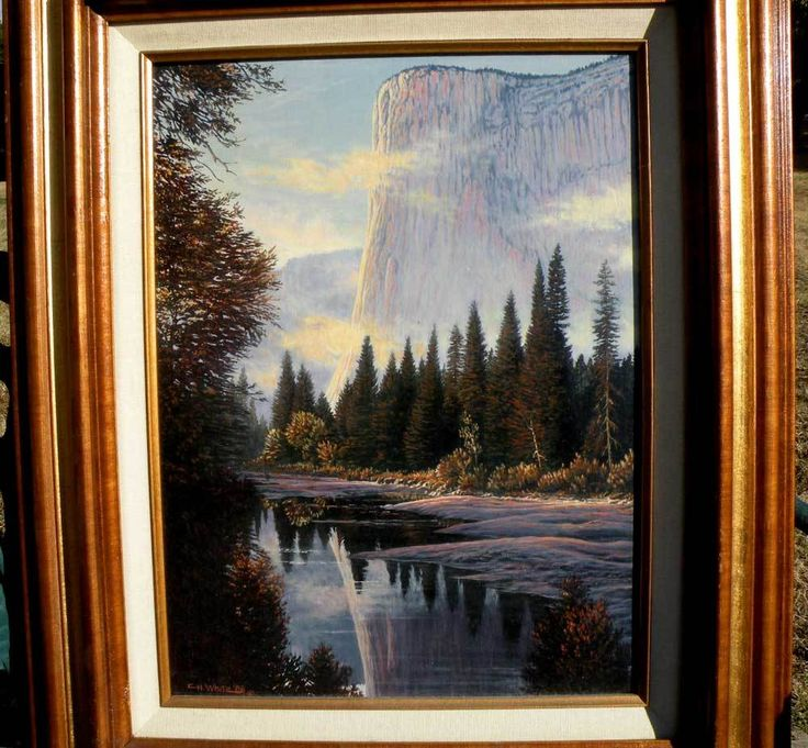 El Capitan, Yosemite (Canadian Artist - Charles H. White) from therecklessnecklace on Ruby Lane