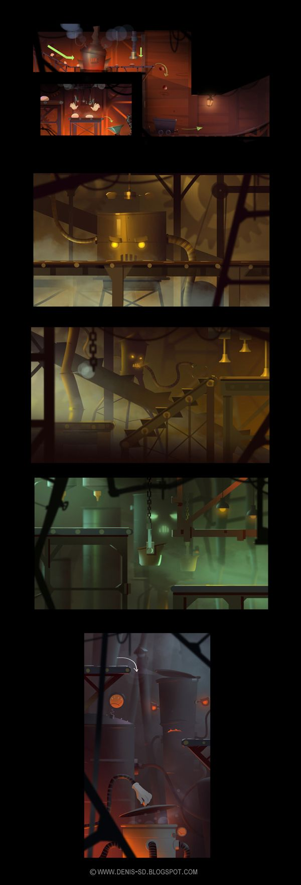 Level concepts on Behance