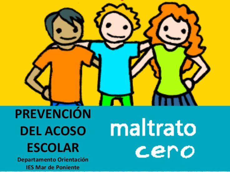 Presentación con información y actividades para sensibilizar contra el acoso escolar.